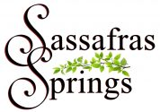 Logo for Sassafras Springs Wedding Venue in Eldon, Missouri near Lake of the Ozarks